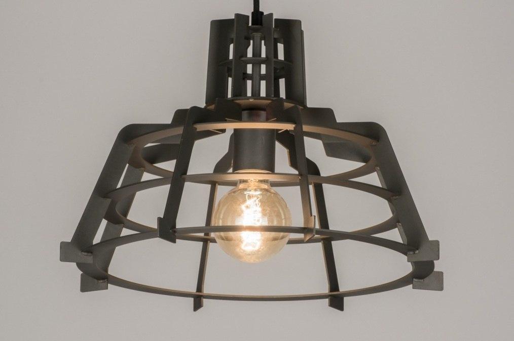 pendelleuchte 72235 modern industrielook coole lampen grob metall. Black Bedroom Furniture Sets. Home Design Ideas