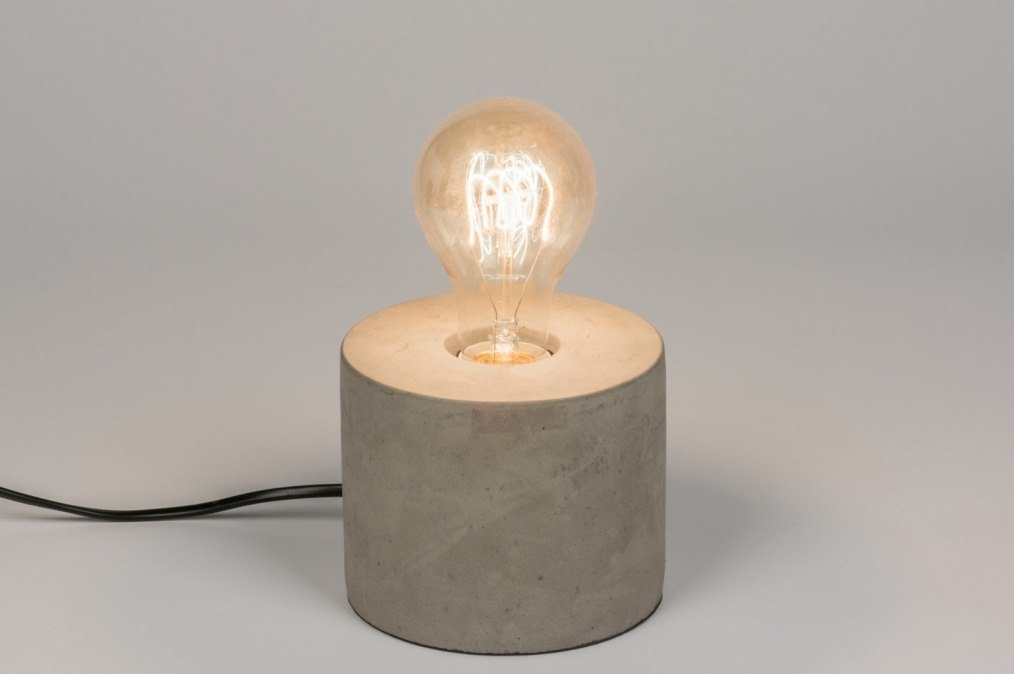 Table lamp 72239: industrial look, rustic, modern, raw #0