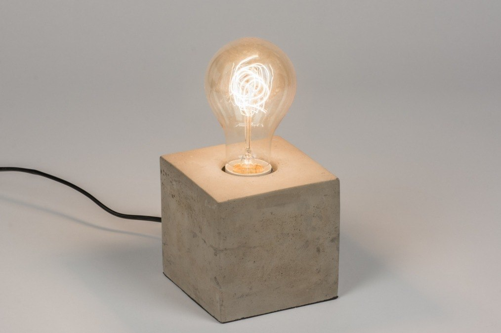 Table lamp 72240: industrial look, rustic, modern, raw #0