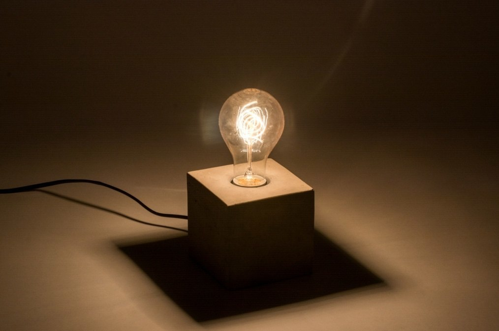 Tafellamp 72240: modern landelijk rustiek industrie