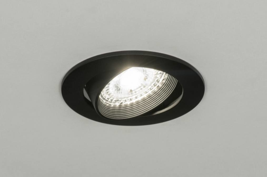 Recessed spotlight 72245: modern, metal, black, matt #0
