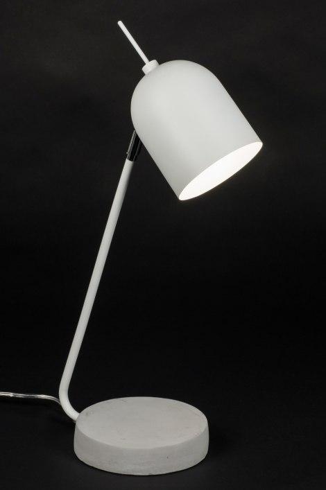 tischleuchte 72258 modern laendlich rustikal coole lampen grob weiss. Black Bedroom Furniture Sets. Home Design Ideas