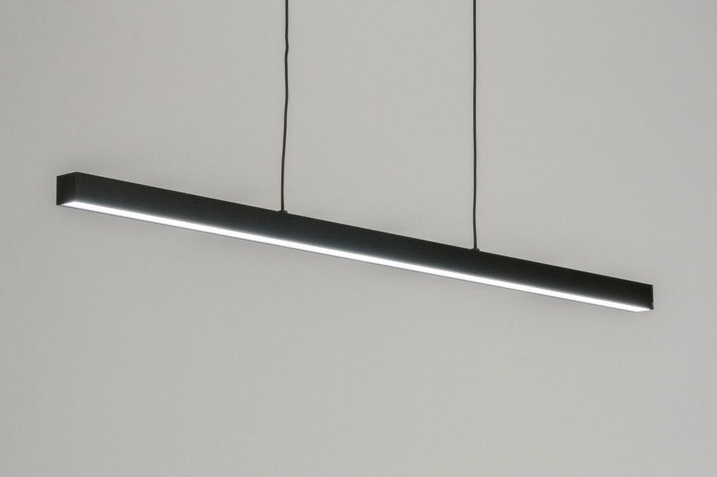 Hanglamp 72280: modern, industrie, look, zwart #0