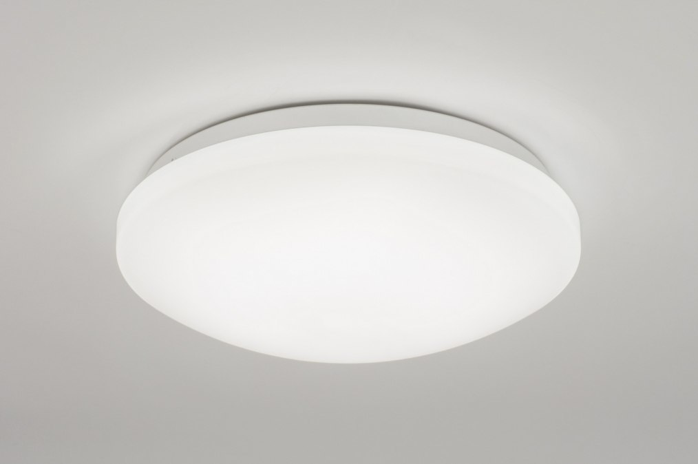 Plafondlamp 72288: modern, wit, kunststof, rond #0