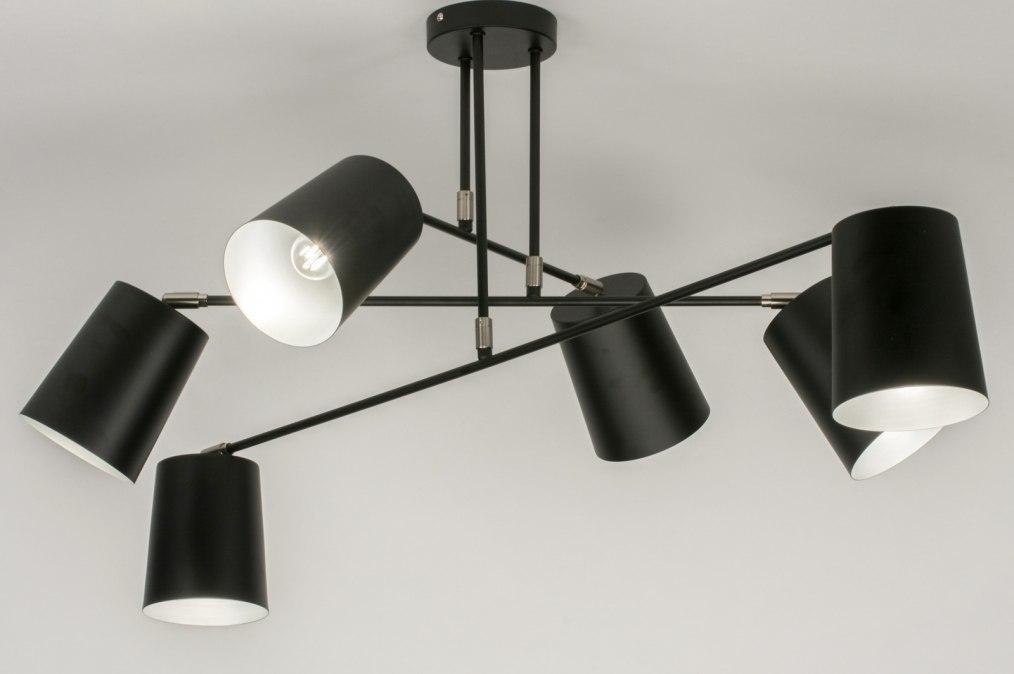 Plafondlamp 72310: modern, metaal, zwart, mat #0