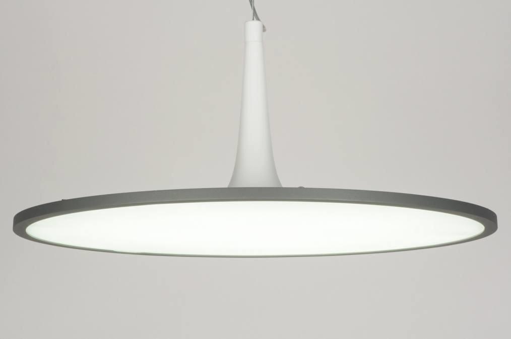 Hanglamp 72317: modern, design, grijs, metaal #0