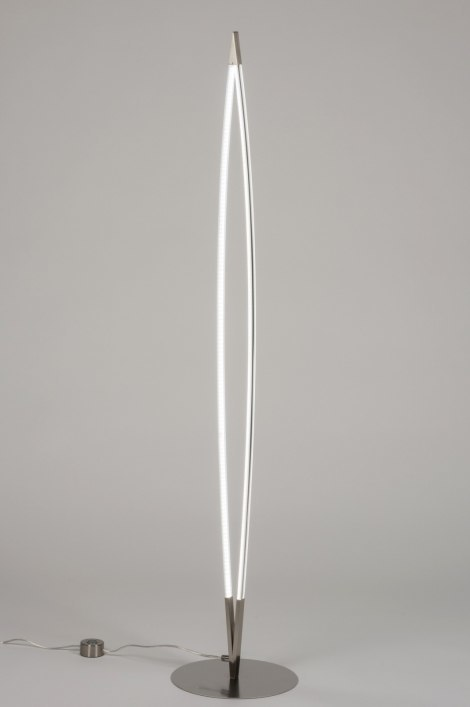Vloerlamp 72326: design, modern, staal rvs, kunststof #0
