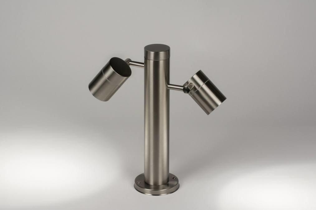Floor lamp 72341: sale, modern, stainless steel, steel gray #0