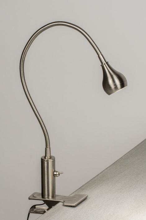 Tafellamp 72366: modern, staal rvs, metaal, staalgrijs #0