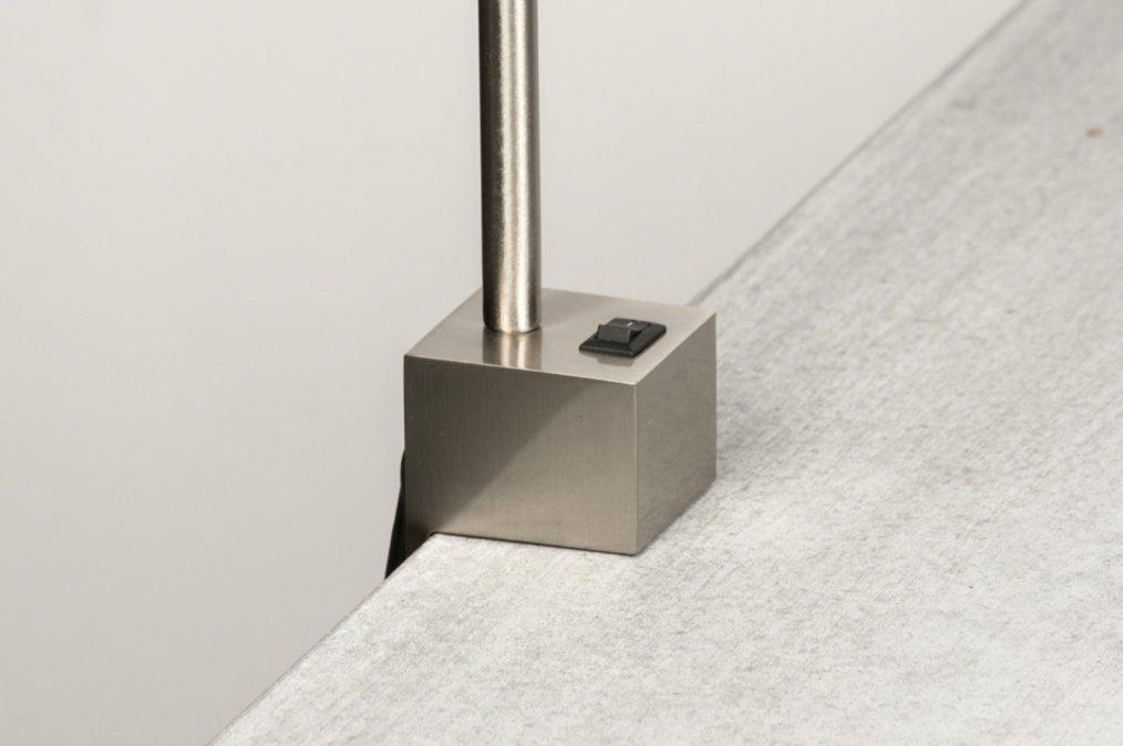 tischleuchte 72367 modern design stahlgrau stahl. Black Bedroom Furniture Sets. Home Design Ideas