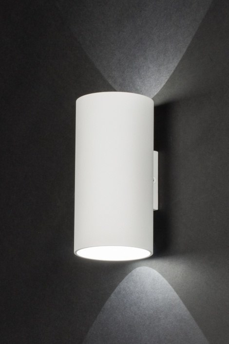 Wall lamp 72373: designer, modern, metal, white #0