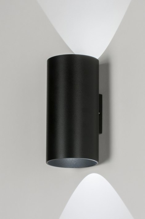 Wandlamp 72374: design, modern, metaal, zwart #0