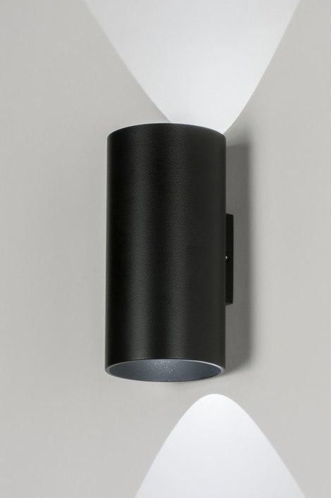 Wall lamp 72374: designer, modern, metal, black #0