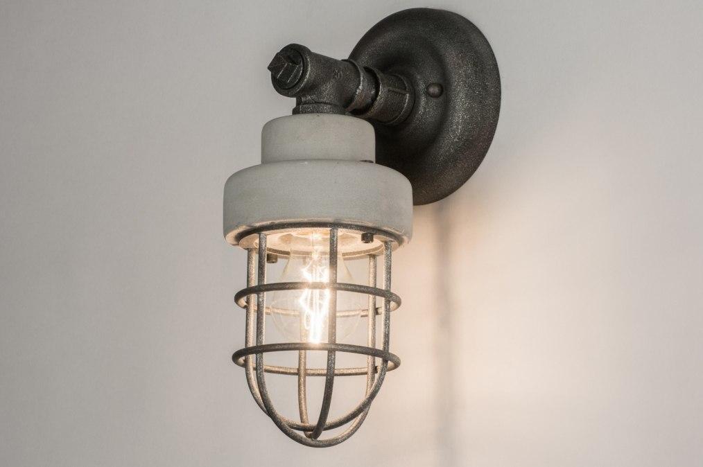 Wandleuchte 72376: Sale, Industrielook, laendlich rustikal, coole Lampen grob #0
