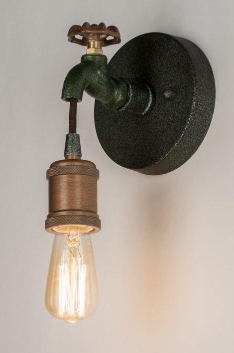 Wandlamp 72382: landelijk, rustiek, eigentijds klassiek, metaal #0