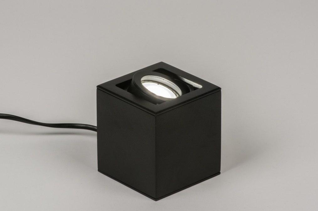 tischleuchte 72395 modern design schwarz matt. Black Bedroom Furniture Sets. Home Design Ideas