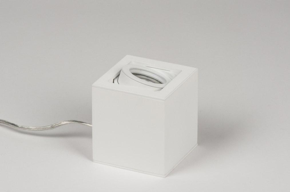 tischleuchte modern design tischlampe modern design tischleuchte wei h he 48 cm tischlampe. Black Bedroom Furniture Sets. Home Design Ideas