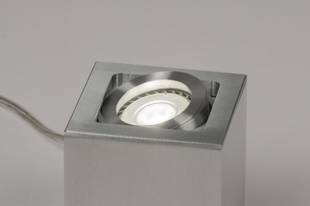 tischleuchte 72397 modern design aluminium aluminium. Black Bedroom Furniture Sets. Home Design Ideas