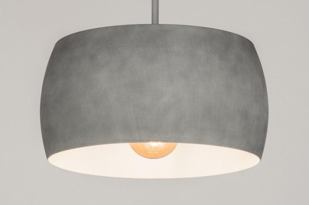 Hanglamp 72401: modern, betongrijs, aluminium, metaal #0