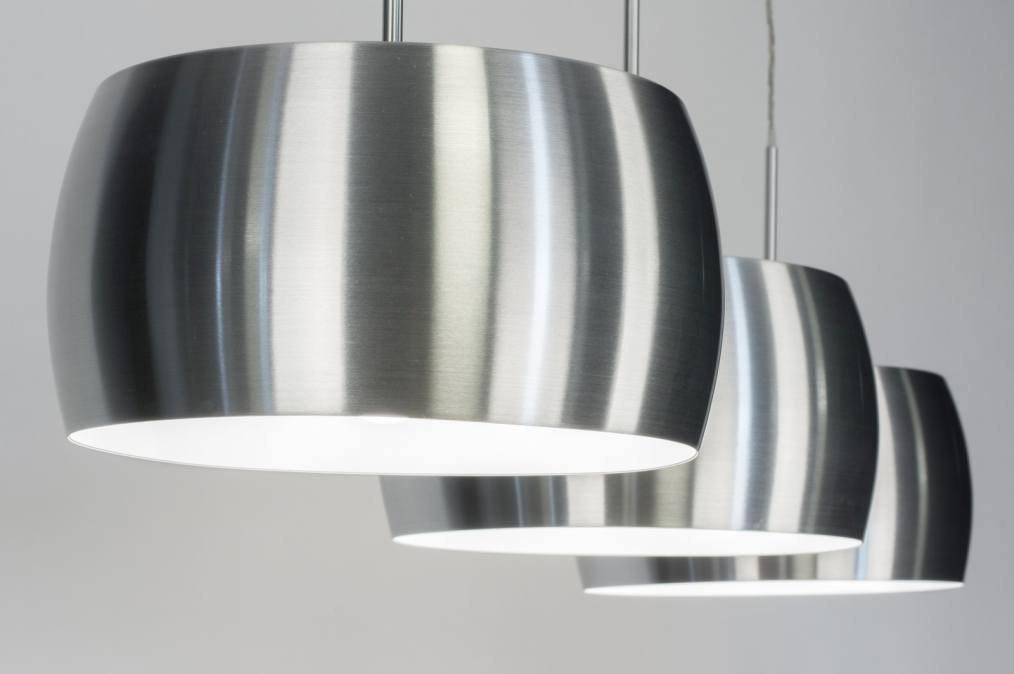 Hanglamp 72403: modern, aluminium, geschuurd aluminium, metaal #0
