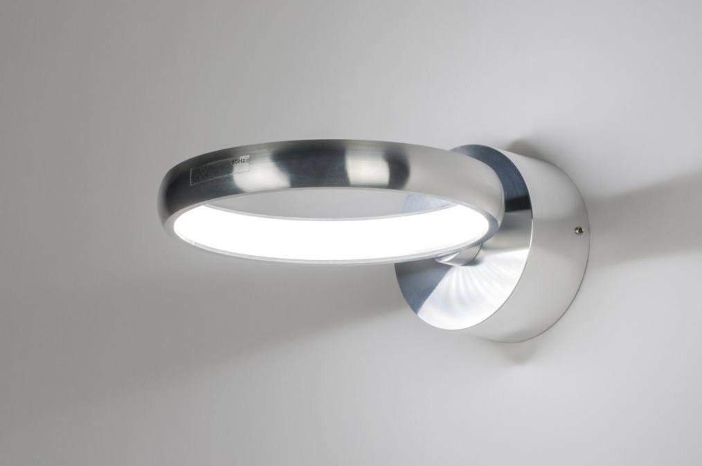 Wandlamp 72406: design, modern, aluminium, metaal #0