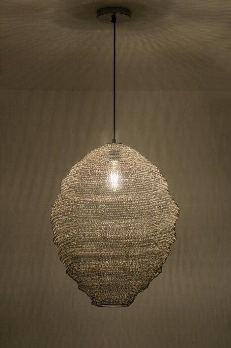 pendelleuchte 72451 modern laendlich rustikal coole lampen grob stahlgrau. Black Bedroom Furniture Sets. Home Design Ideas