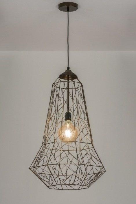 Hanglamp 72452: modern, landelijk, rustiek, oldmetal (gunmetal) #0