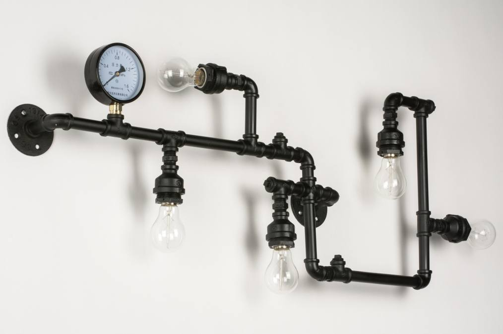 wandlamp 72473 industrie look modern stoer. Black Bedroom Furniture Sets. Home Design Ideas