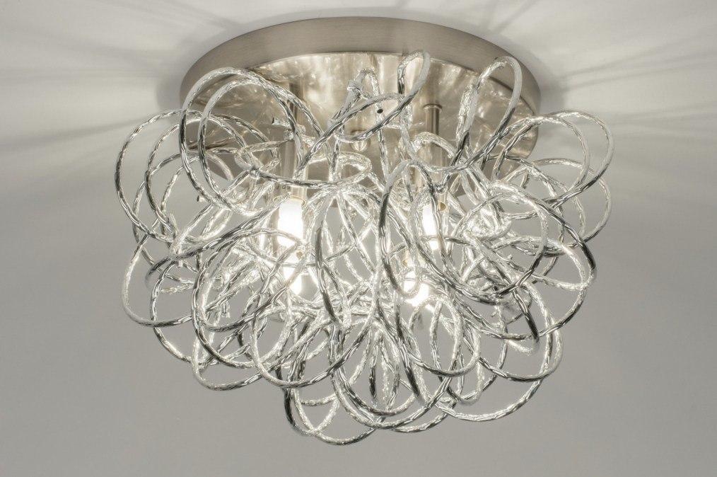 Plafondlamp 72500: modern, staal rvs, aluminium, metaal #0
