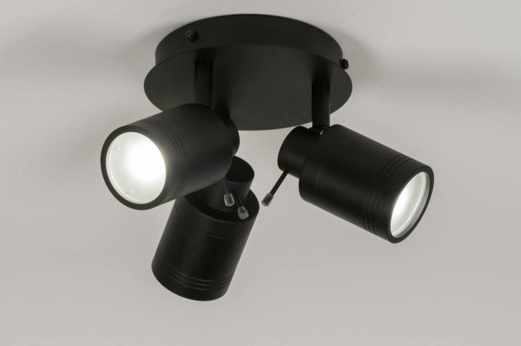 Plafondlamp 72531: modern, industrie, look, zwart #0