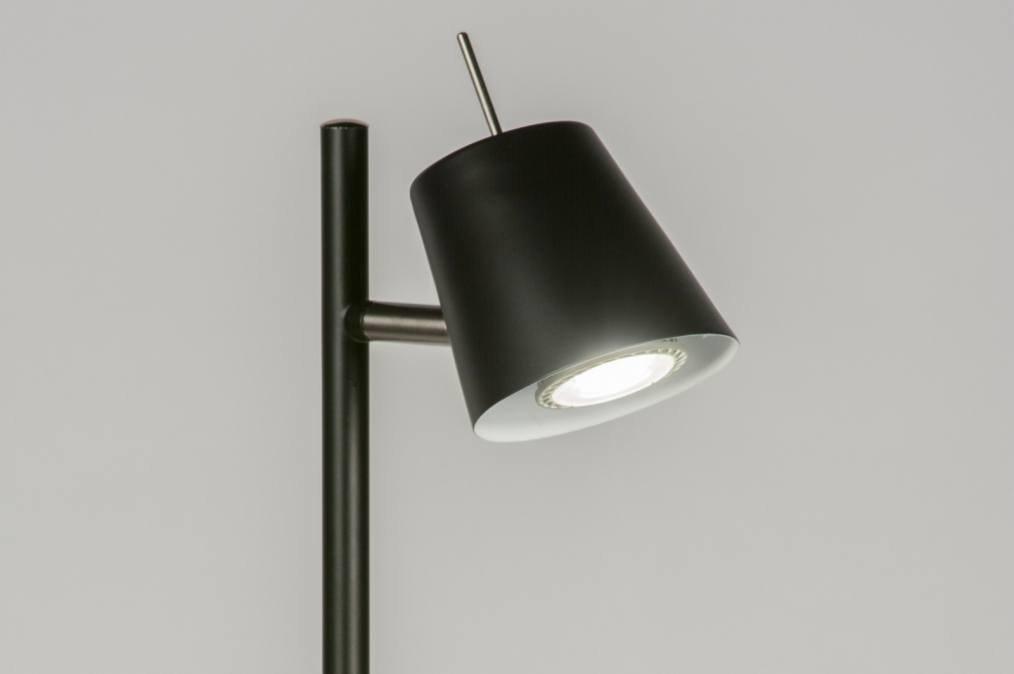 Vloerlamp 72538: sale modern zwart mat