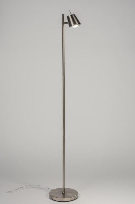 Vloerlamp 72539: sale, modern, staalgrijs, metaal #0