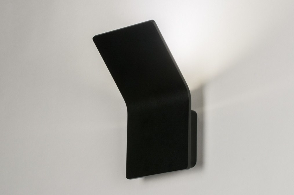 Wandlamp 72565: modern, design, zwart, mat #0