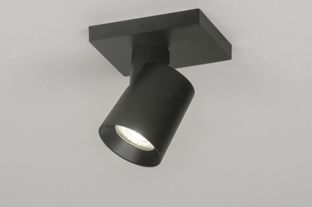Plafondlamp 72567: modern, design, zwart, mat #0