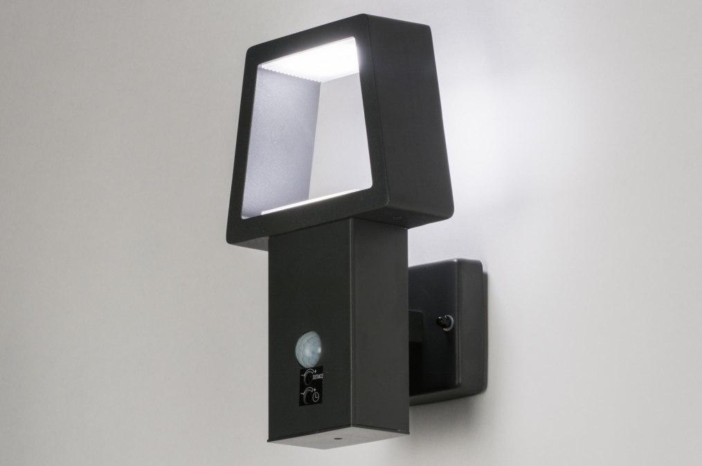 Wall lamp 72591: designer, modern, metal, black #0