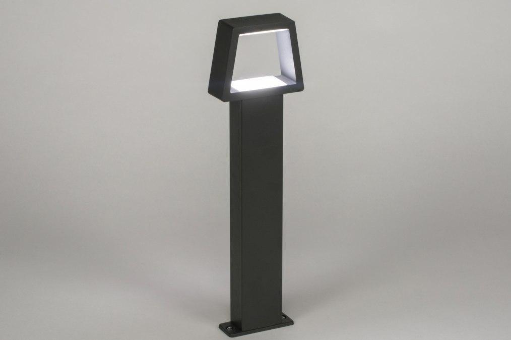 Vloerlamp 72592: modern, metaal, zwart, mat #0