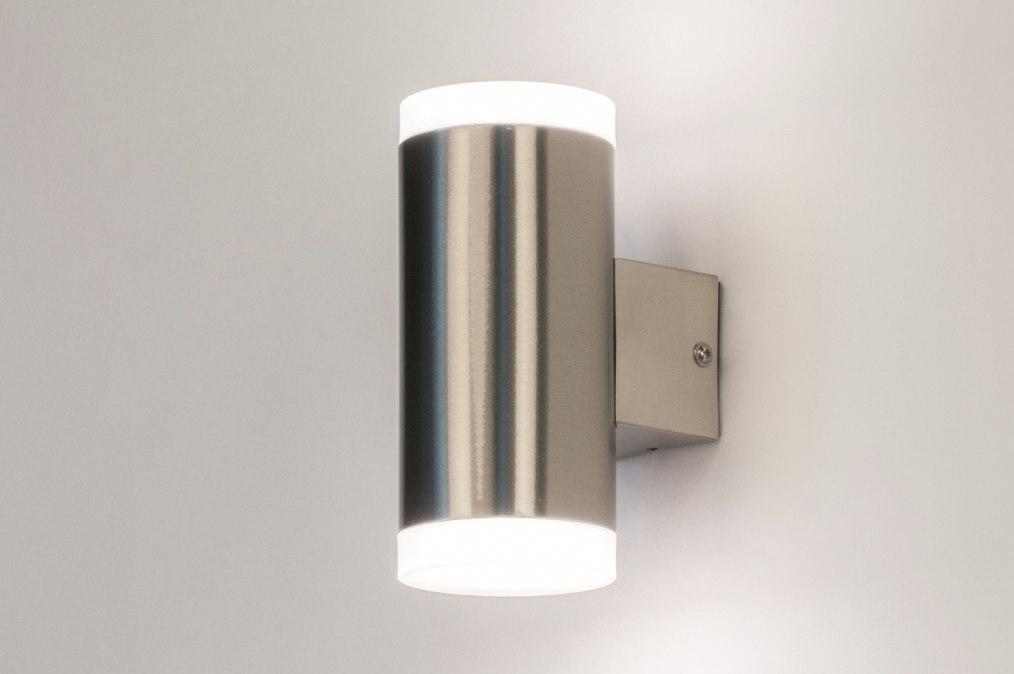 Wandlamp 72593: sale, modern, staal rvs, metaal #0