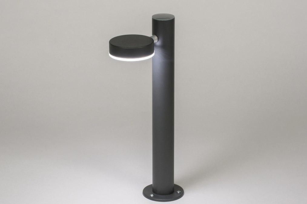 Vloerlamp 72597: sale, modern, metaal, zwart #0