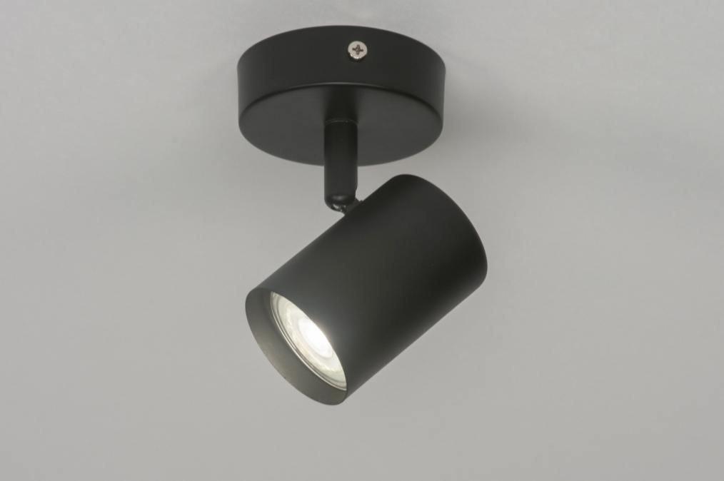 Spot 72601: modern, metaal, zwart, mat #0