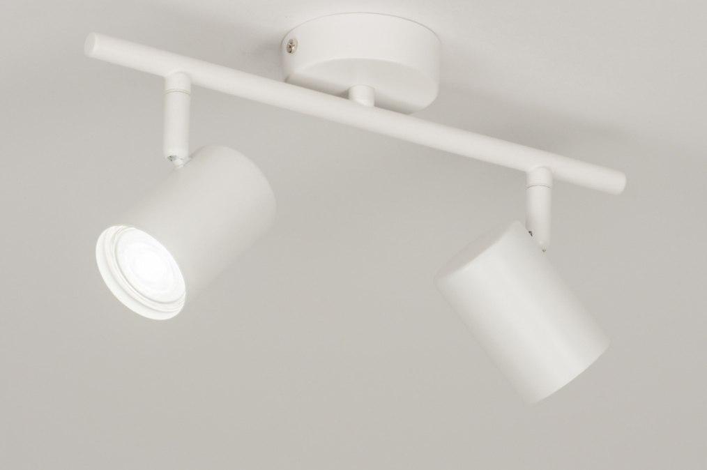 Spot 72605: moderne, acier, blanc, mat #0