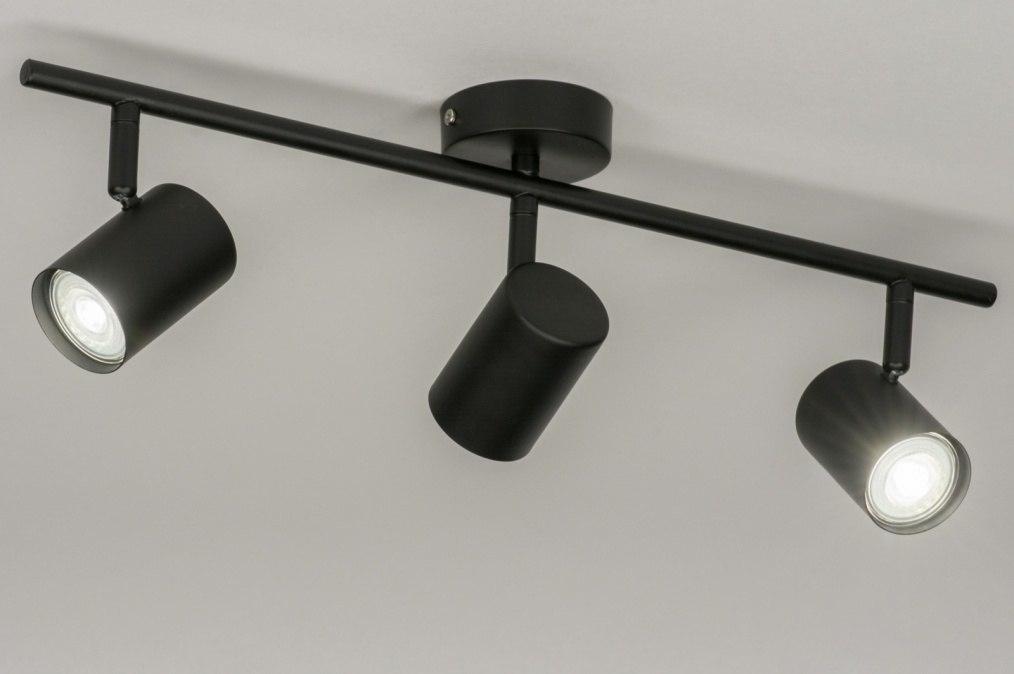 Spot 72607: modern, metaal, zwart, mat #0