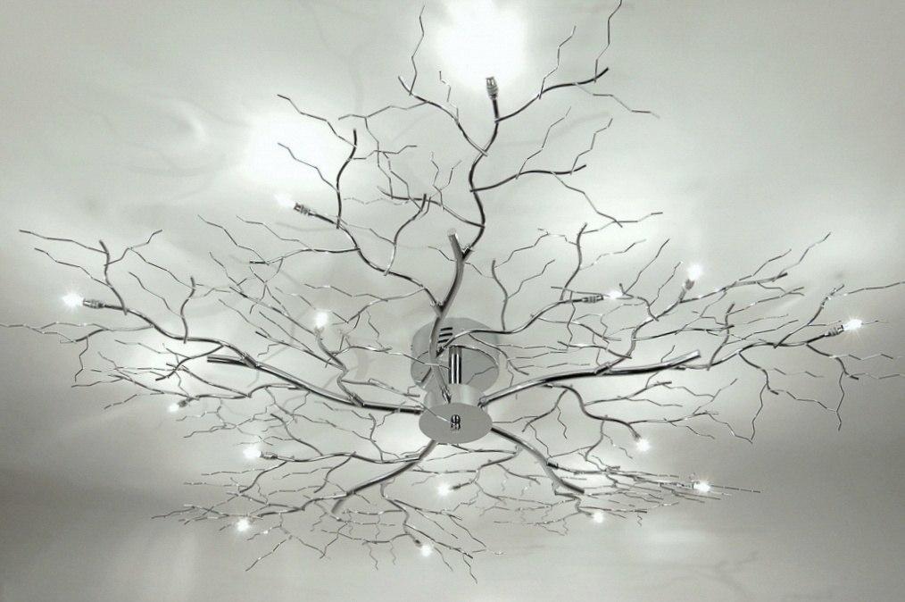 plafondlamp 72611 modern eigentijds klassiek chroom metaal. Black Bedroom Furniture Sets. Home Design Ideas