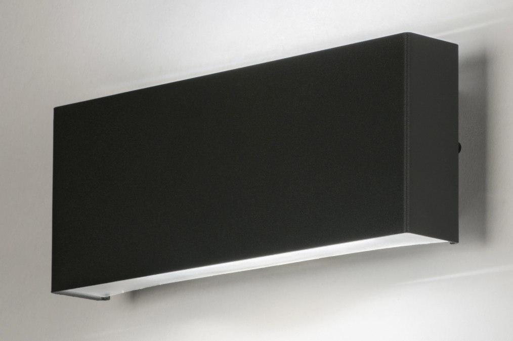 Wandlamp 72637: modern, antraciet donkergrijs, aluminium, kunststof #0