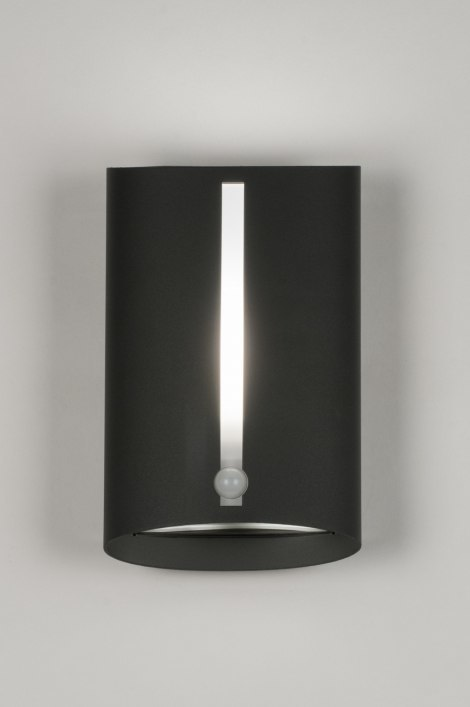 Wall lamp 72641: modern, aluminium, metal, black #0