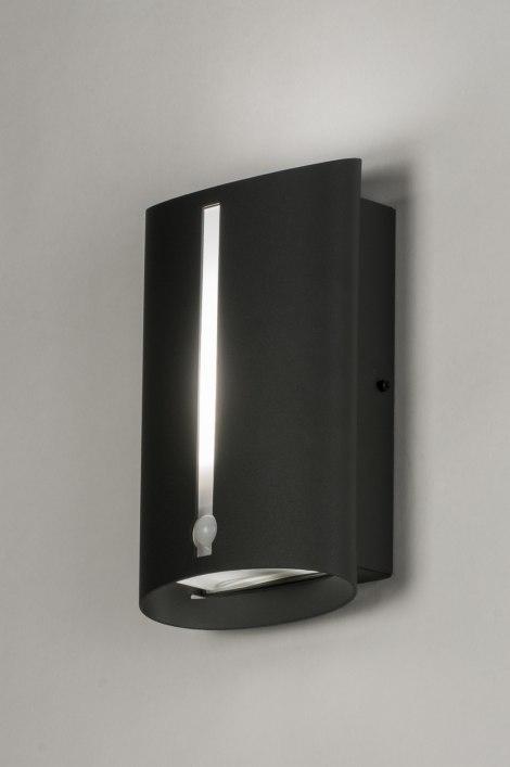 applique murale 72641 moderne anthracite aluminium acier. Black Bedroom Furniture Sets. Home Design Ideas