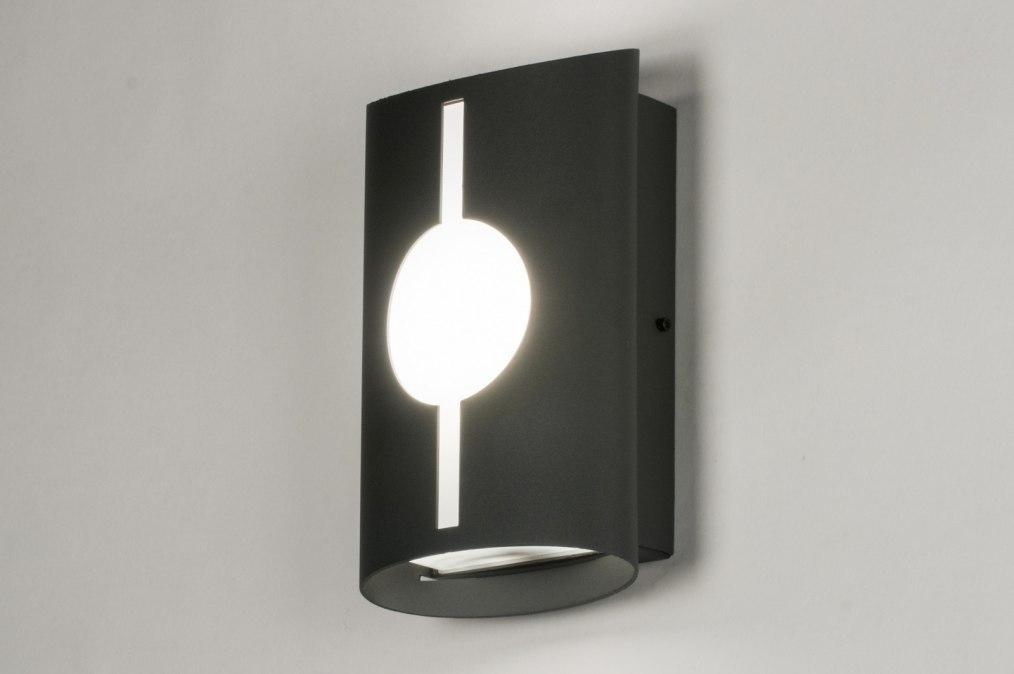 Wandlamp 72642: modern, aluminium, metaal, zwart #0