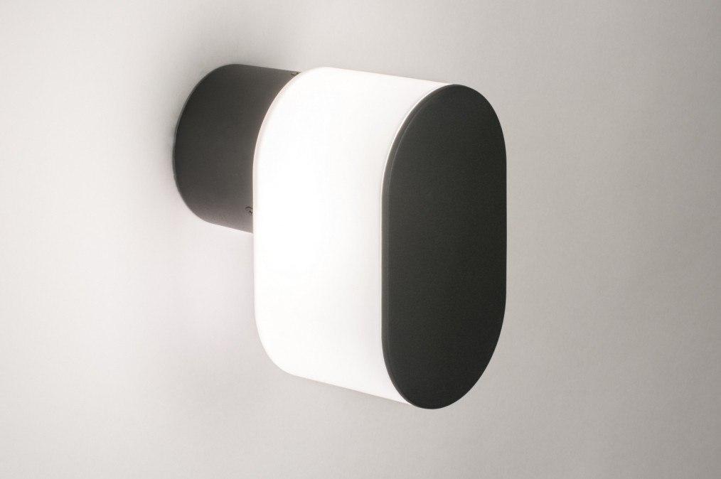 Aplique de pared 72643: Moderno, Material. sintetico., Metal, Negro #0