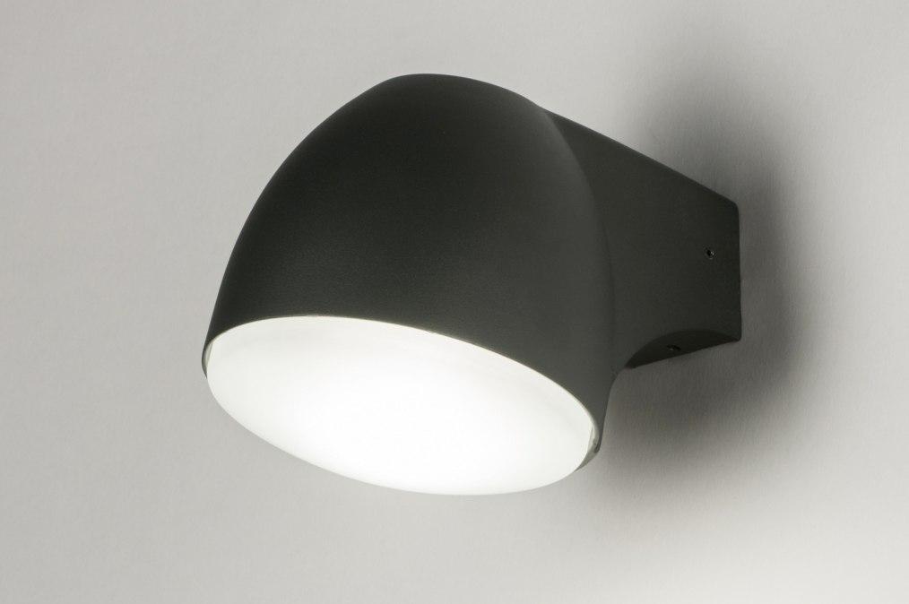 Wandlamp 72646: modern, design, antraciet donkergrijs, grijs #0