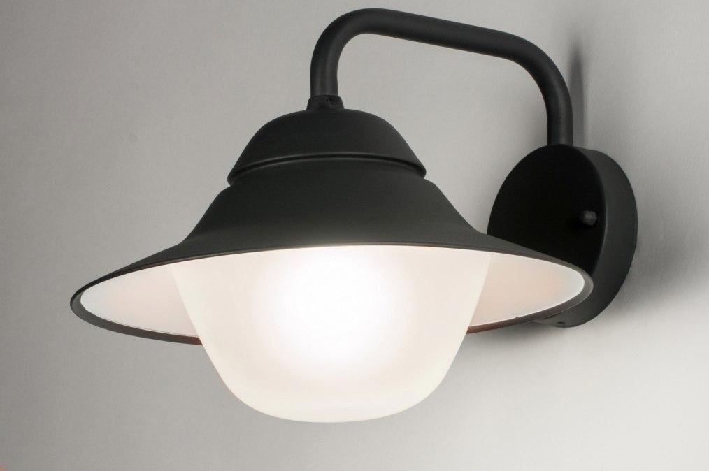 Wandlamp 72656: modern, glas, aluminium, zwart #0