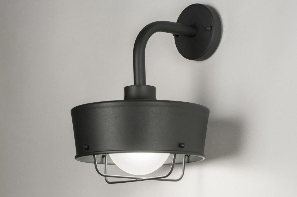 Wandlamp 72660: industrie, look, landelijk, rustiek #0